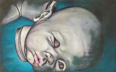 """Bambola smontata"" 50x80 olio su tela 2015"