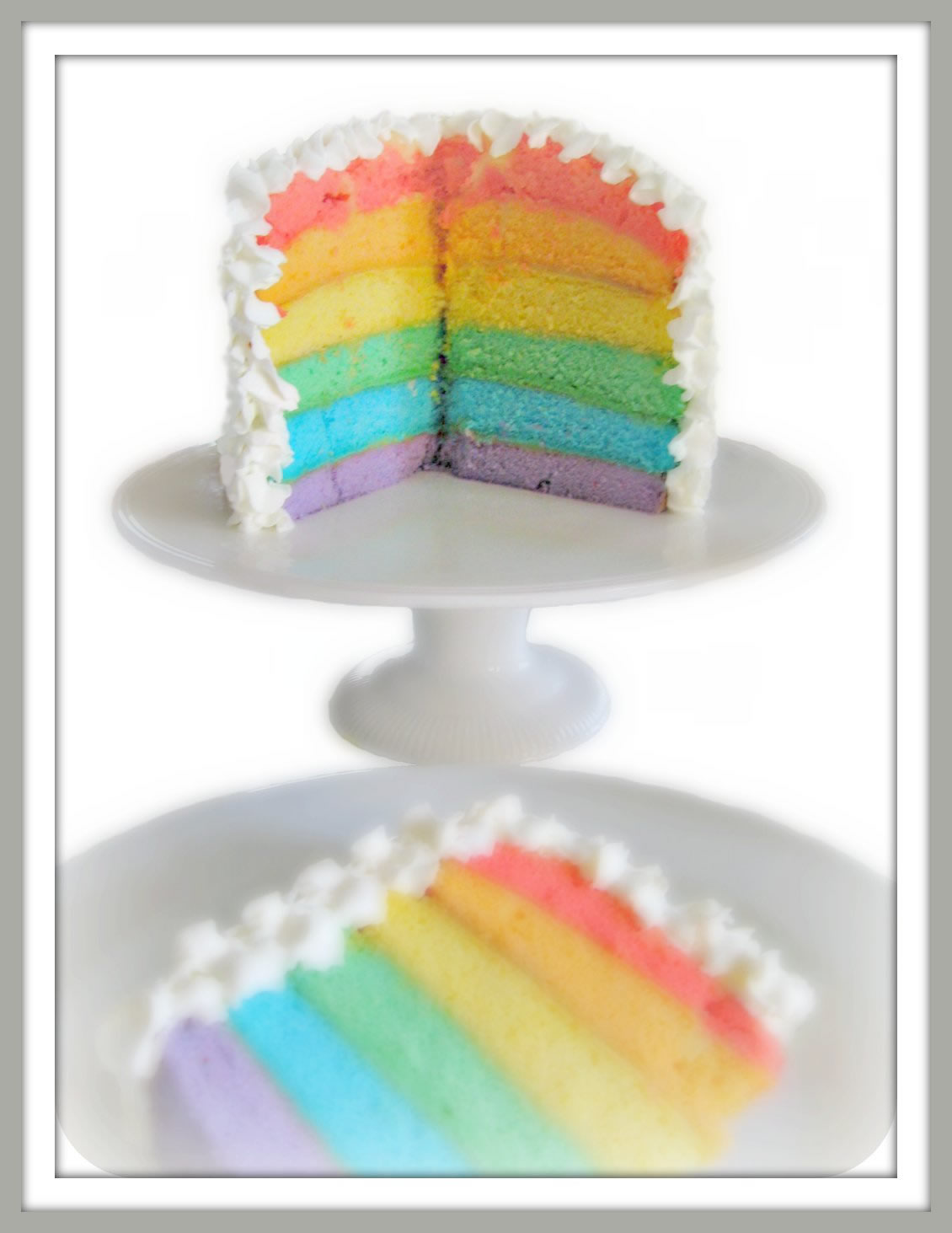 Pinks & Needles: Rainbow Layer Cake Recipe