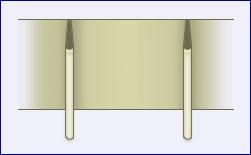 gemeten breedte x 19 25cm per gordijn prijs 4 euro per meter