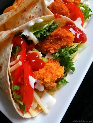 Domowy McWrap - Klasyczny Chrupiący Kurczak jak z McDonald's - Przepis - Słodka Strona