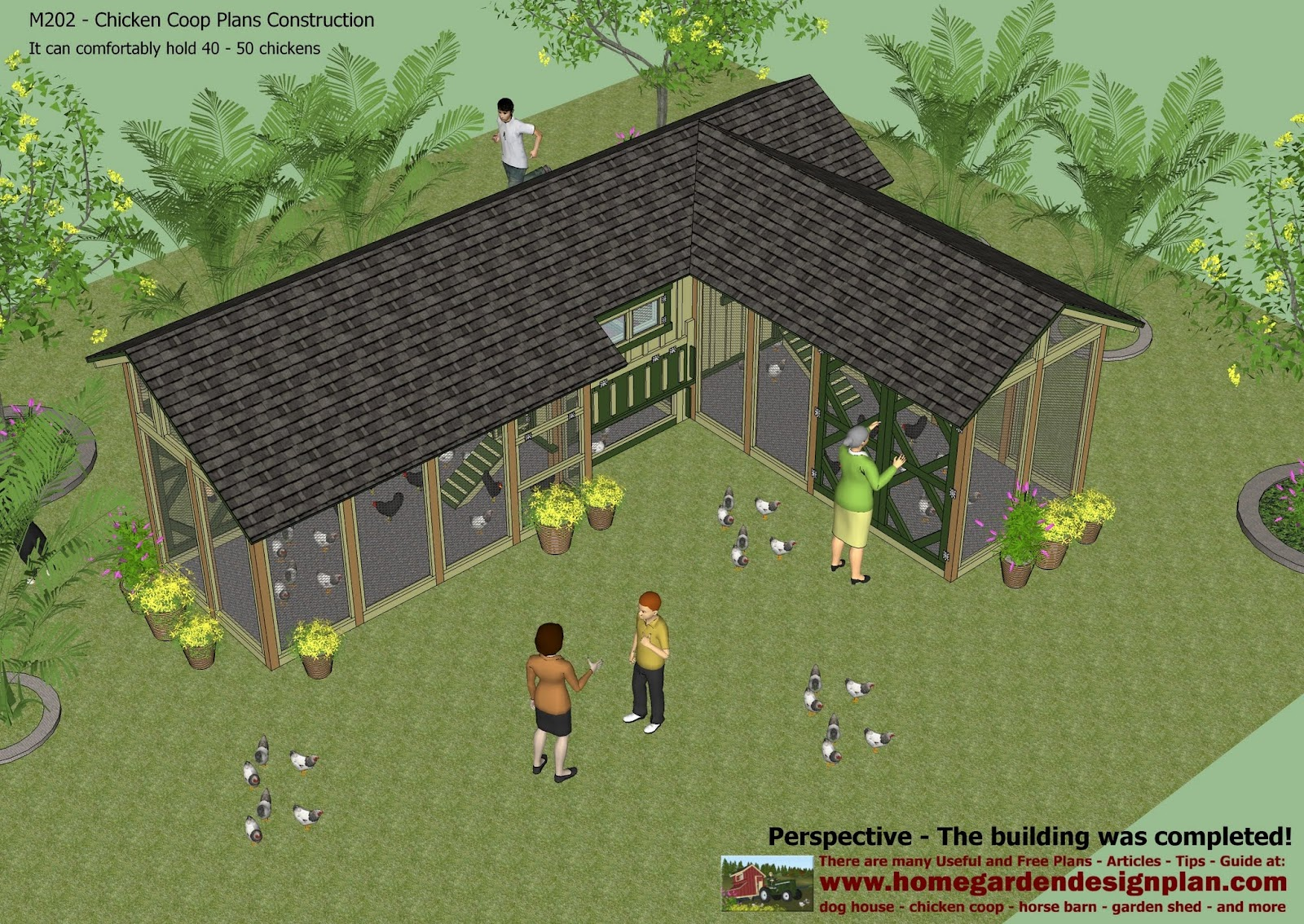 Chicken House Plans For 50 Chickens Home Garden Plans M202  Chicken Coop Plans Construction