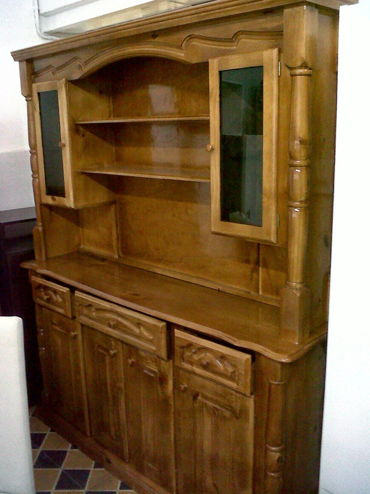 Muebles nuevo espacio muebles de pino lustrados - Muebles en crudo para pintar ...