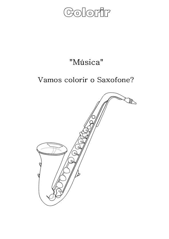 Desenhos Para Colorir Instrumentos Musicais