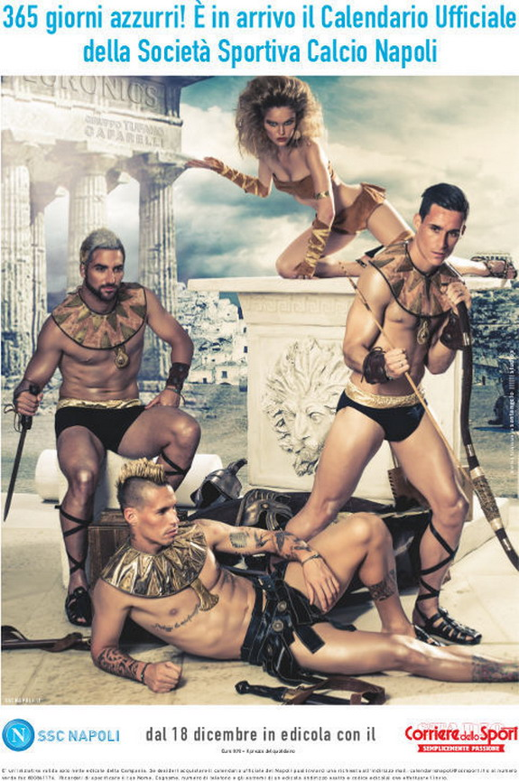 Who wouldn't want Napoli's Gladiator-themed calendar?