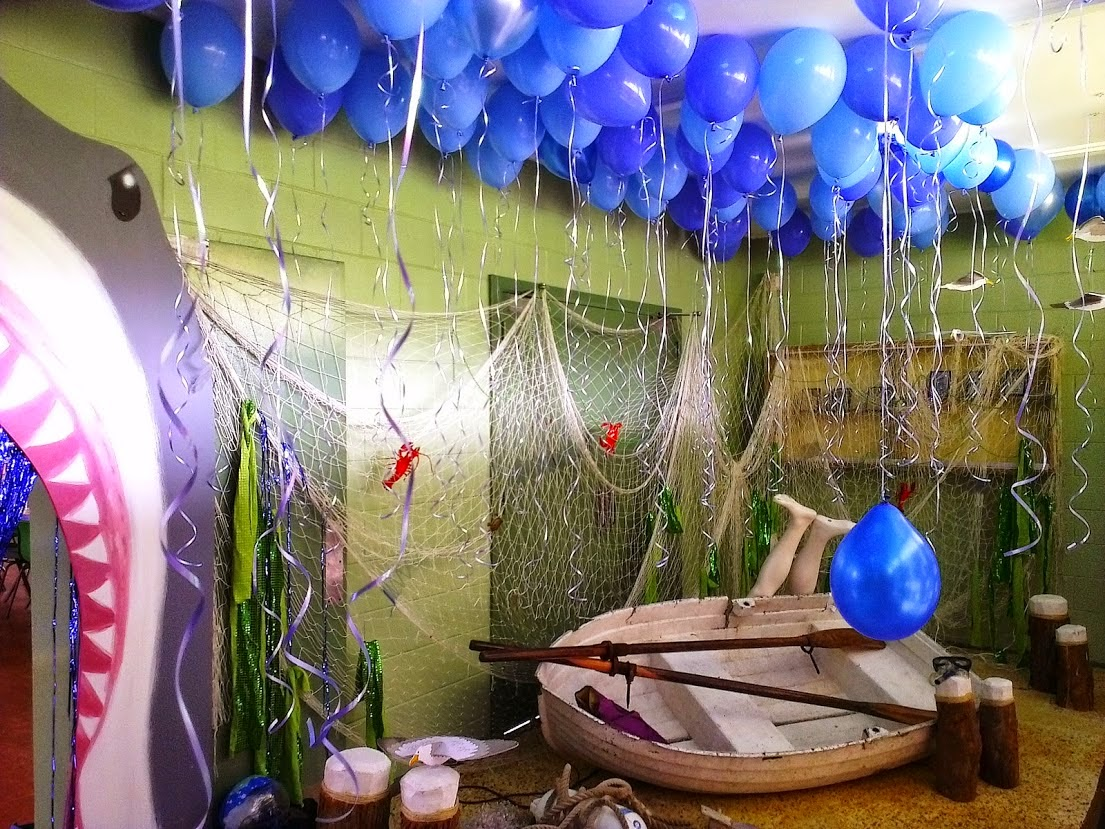 The gallery for farewell party decorations ideas for Sea themed decorating ideas
