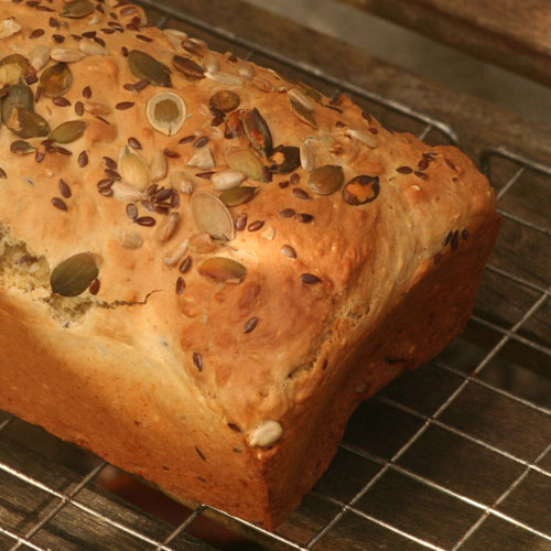 Irish Food and Drink: White Soda Bread with Seeds photo by Hester Casey