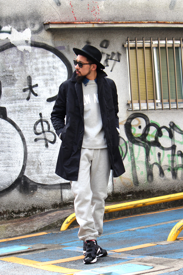 expansion exp yewnork crewsweat sweatpants 14fw fedorahat wool hat madeinusa