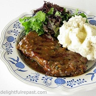Steak with Shallot Sauce