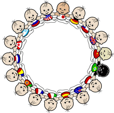 Children of countries worldwide
