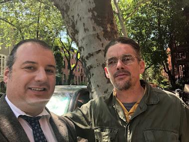 Danya Polykov and Ethan Hawke, 05.2018, Dean St, Brooklyn, NY