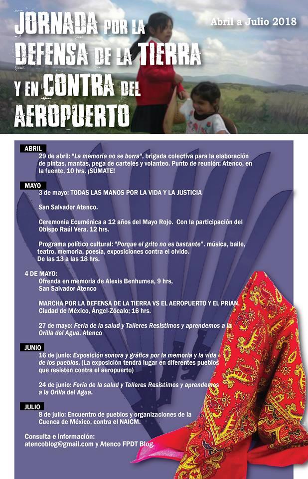 Súmate a la Jornada de Lucha en Defensa de la Tierra y en Contra del #AeropuertoDeMuerte. #MayoRojo