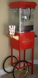 vintage popcorn cart