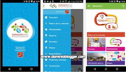 Sigue los Juegos Panamericanos de Toronto 2015 en tu telefono movil