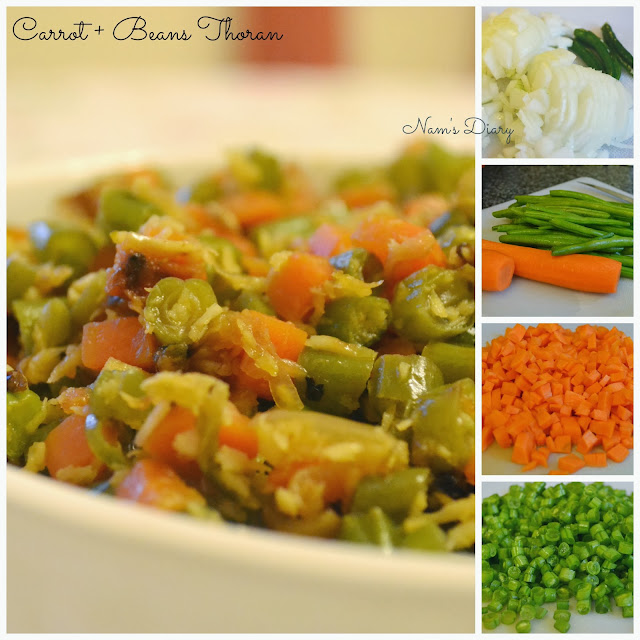 Beans & Carrot Thoran