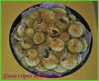 zucchina gratinata con pistacchio di bronte