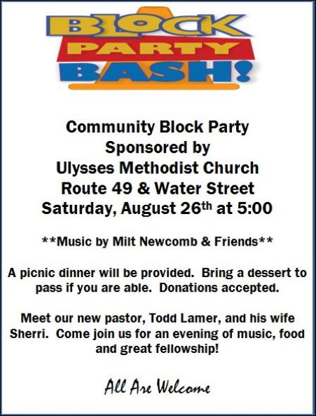 8-26 Block Party Ulysses UMC