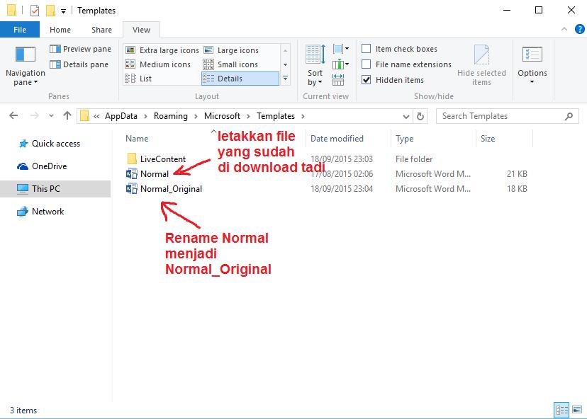 Cara merubah tampilan show text boundaries pada ms word for Appdata roaming microsoft templates