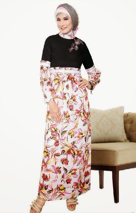 Gamis-Batik-Kombinasi