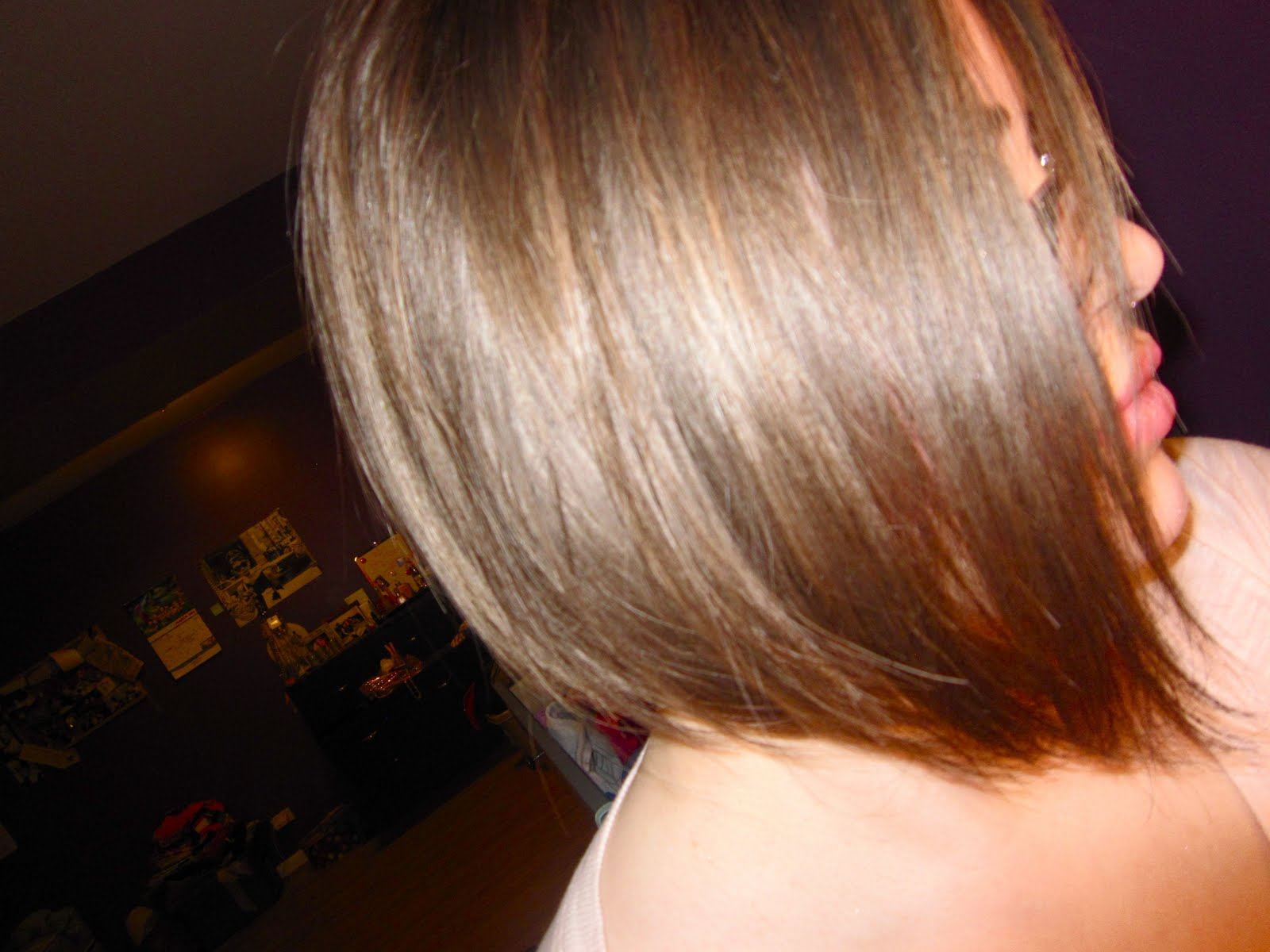 Long Angled Bob Hairstyles Back View