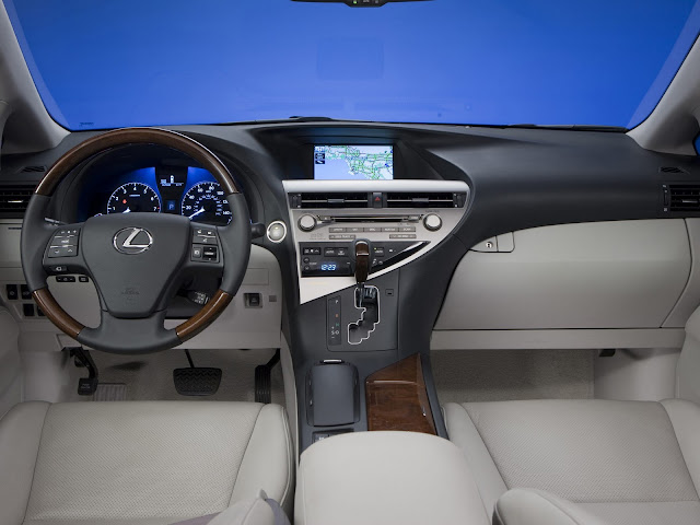 Interior shot of 2011 Lexus RX350
