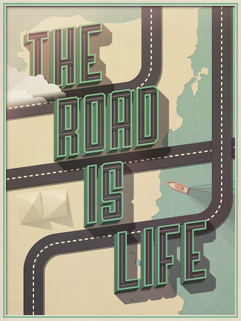 Type illustration that looks like a road