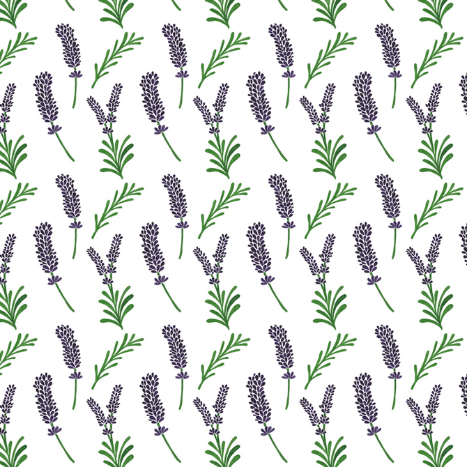 Lavender Pattern Watercolor Illustration by Haidi Shabrina