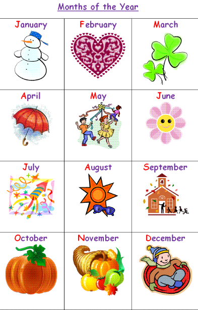 Yummy English for Children: Let's revise the months of the year!!!