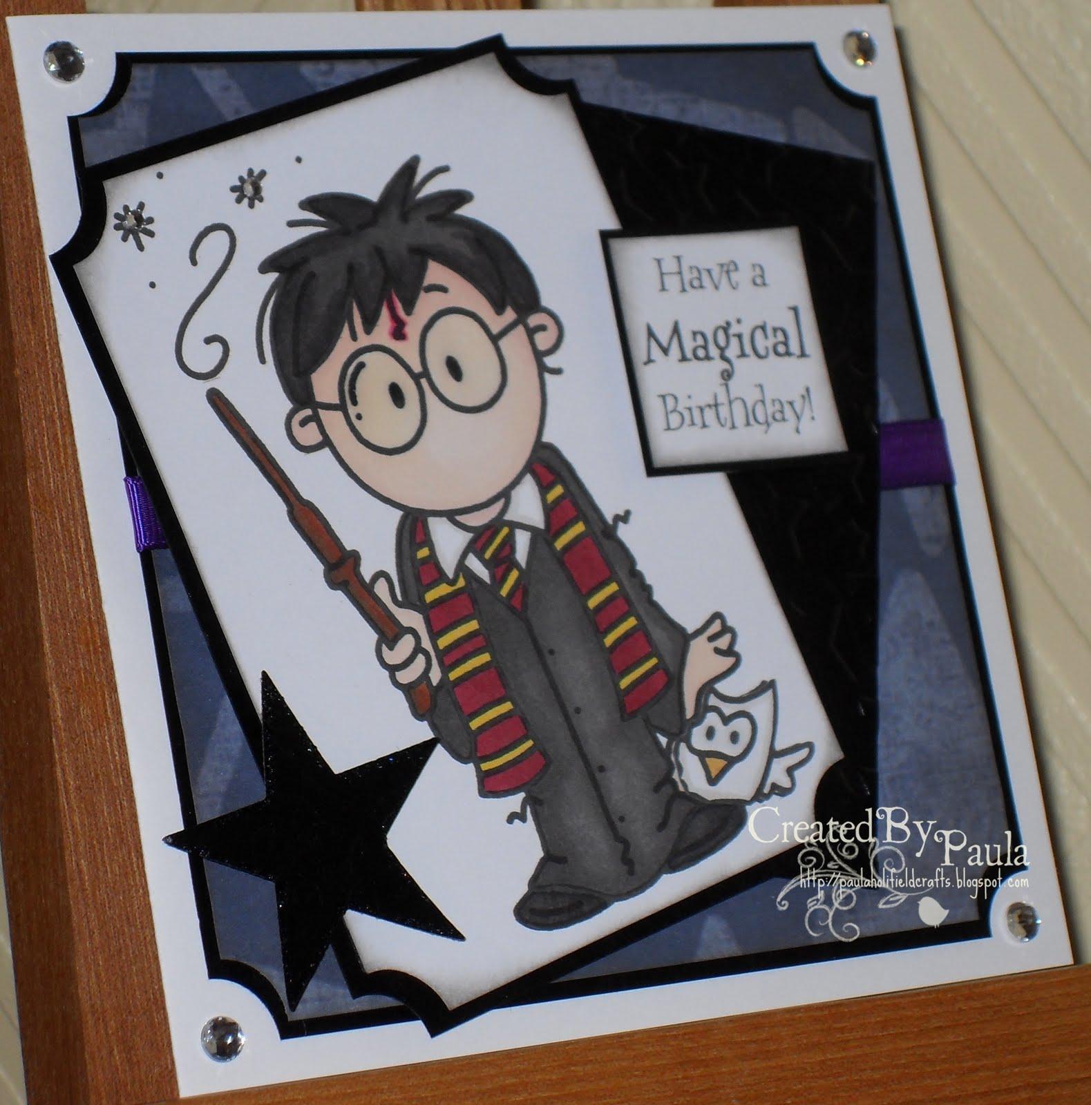 paulaholifieldcrafts Harry Potter Birthday Card