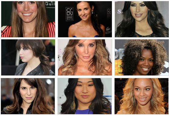 Cabelos longos das celebridades - Moda