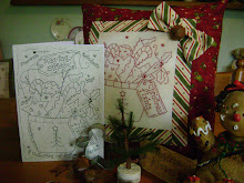 """CHRISTMAS FIXIN&#39;S"" stitchery book. 12 Stitchery designs in one little book"