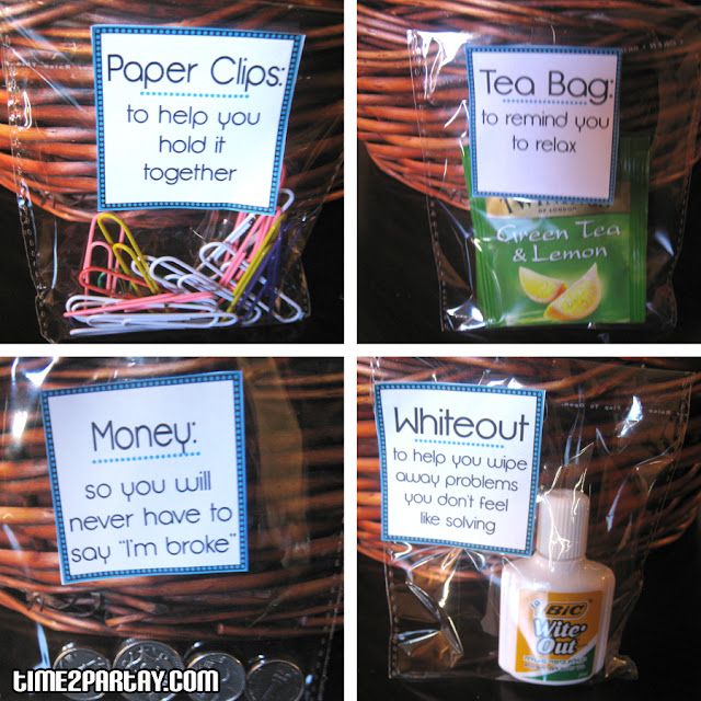 Paper clips: to help you ''hold'' it together.
