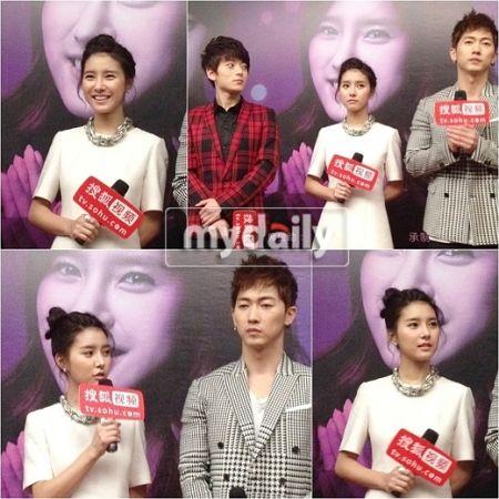 Kim So Eun em conferência de imprensa