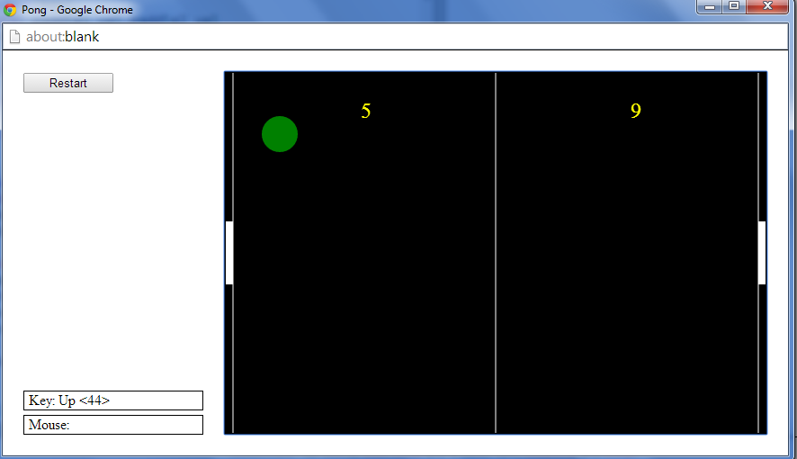 Pong game in Python