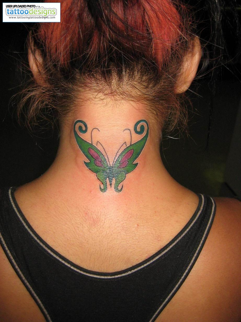 Tattoos for girls tattoos for girls on back of neck for Neck tattoos for females