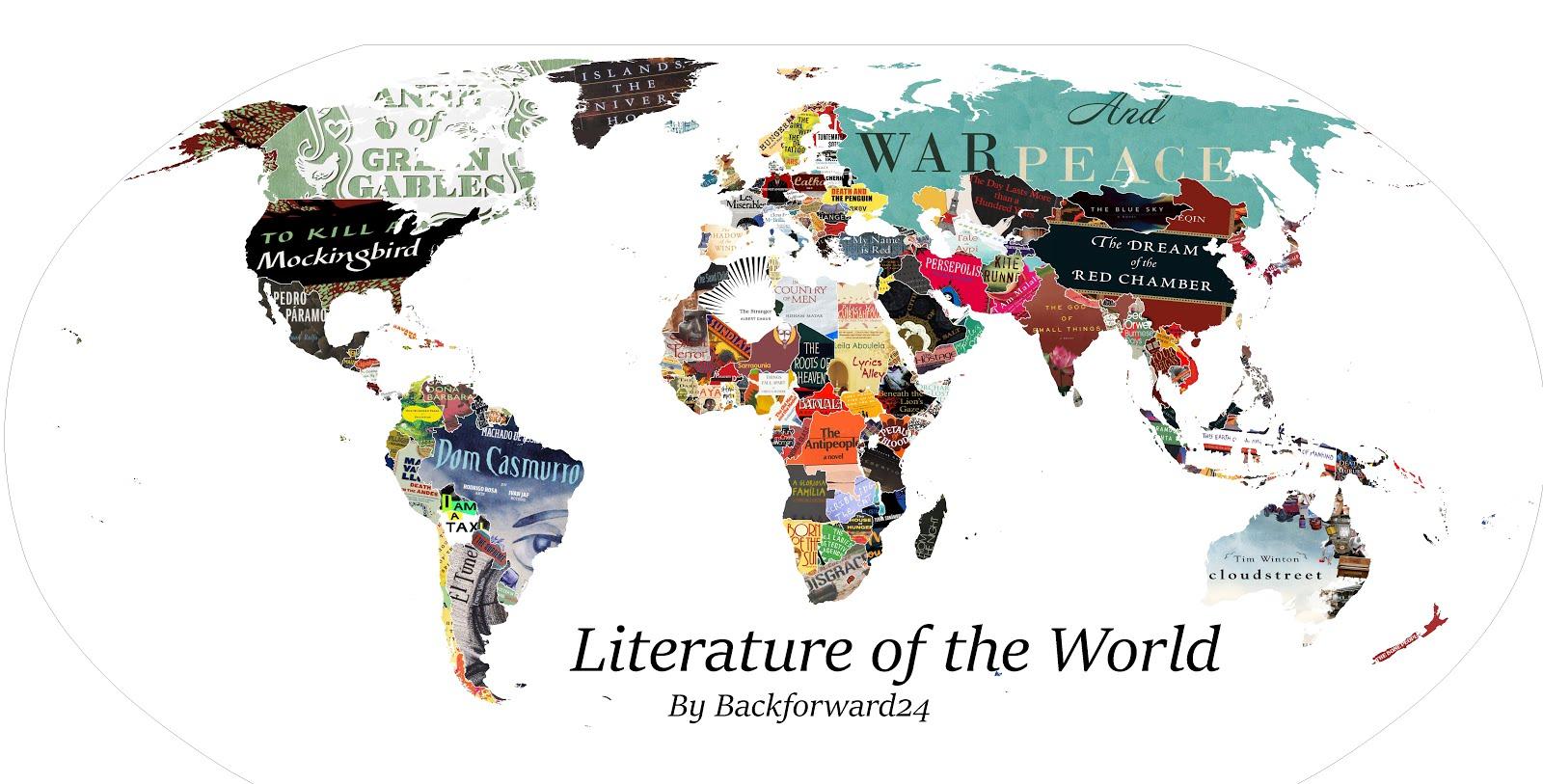 Літературна мапа світу.