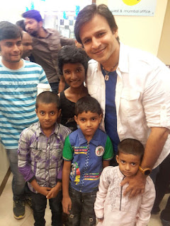 bollywood star vivek oberoi with kids
