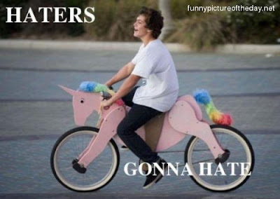 Haters Gonna Hate Pink Unicorn Bike