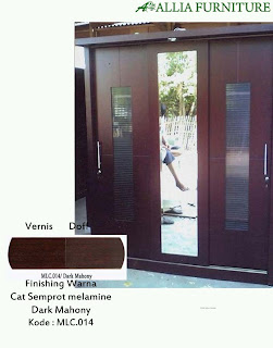 Contoh Furniture Semprot Melamine Dark Mahony