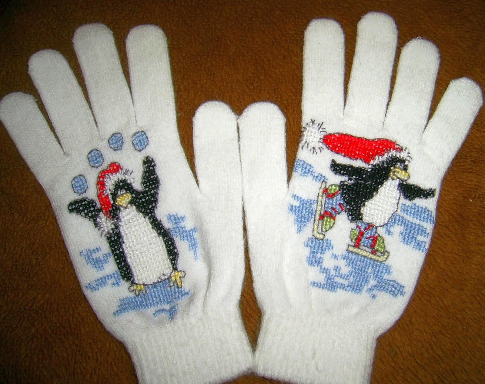 Вышивка на перчатках