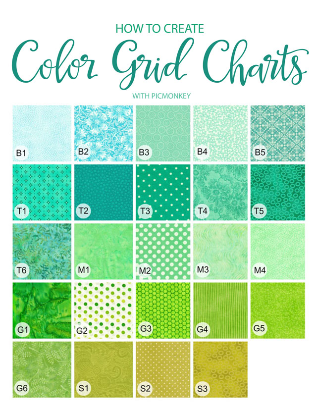 how to create color grid charts with picmonkey