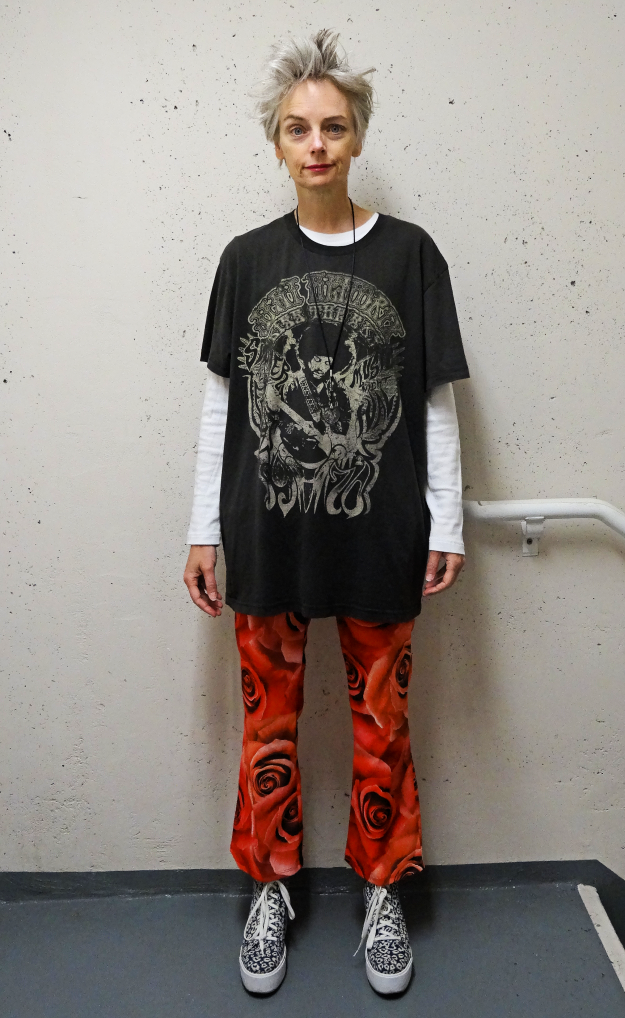 Mel Kobayashi wears clothes to play at the fort