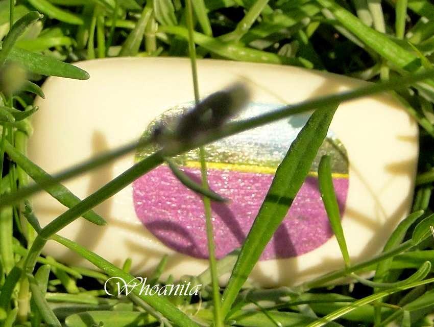 lawendowe mydło, decoupage