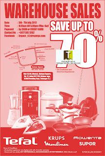 Tefal Warehouse Sale 2012