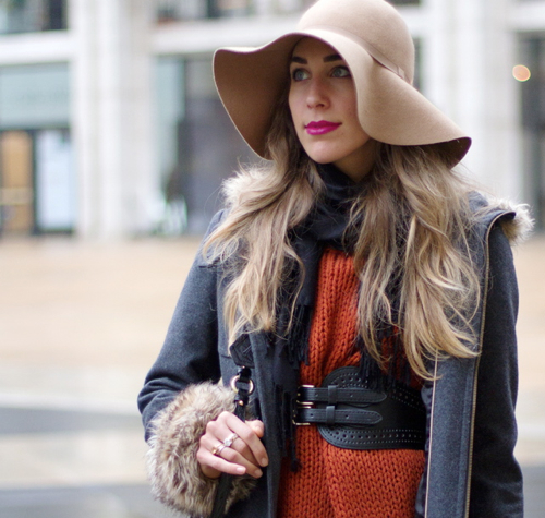 StyleAndPepperBlog.com : : Concrete Catwalk // Floral Floppy Hat