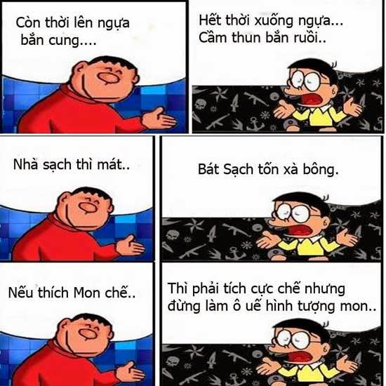 Cuộc đối thoại hài hước giữa Nobita và Chaien