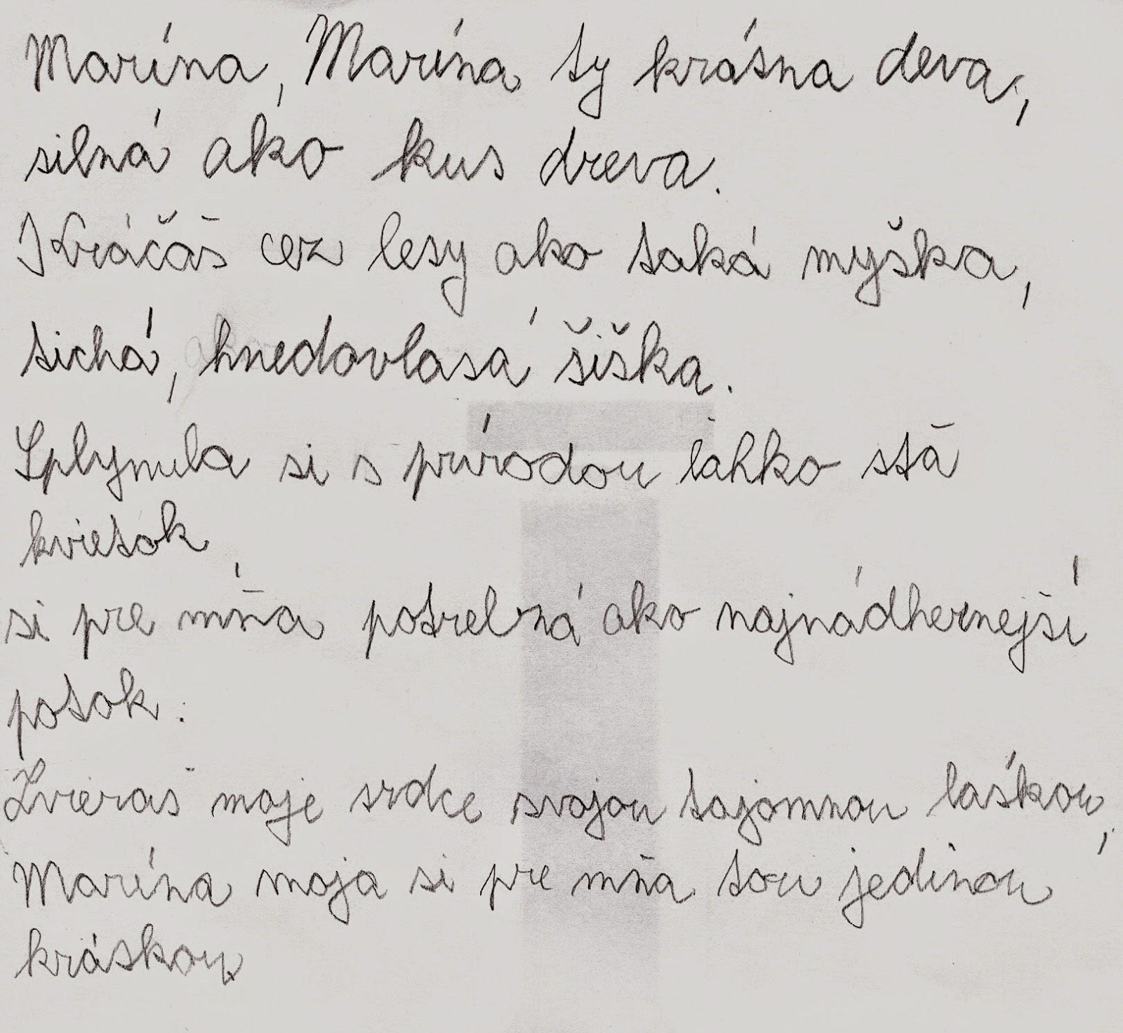 báseň o Maríne