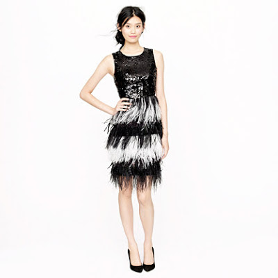 J.Crew Collection Sequin Feather Dress