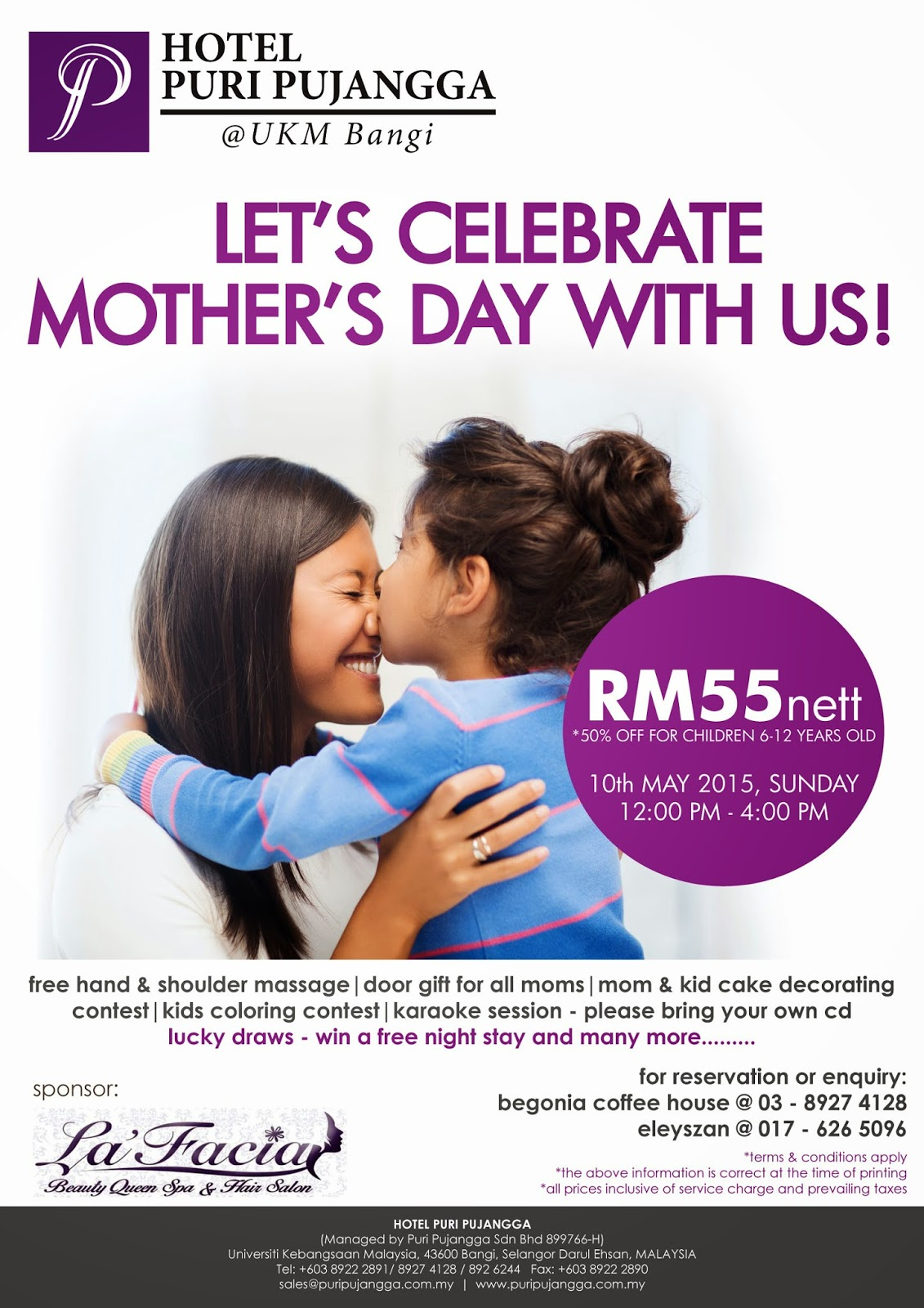 Mother's Day, Hotel Puri Pujangga, Offer, Hi-Tea, UKM, byrawlins, makan, murah