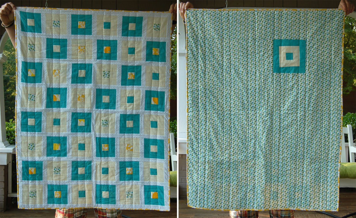 Julieree squares within squares quilt