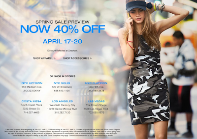 DKNY Sale Preview: 40% Off